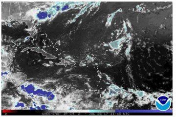 Emiten alerta para  varias provincias por onda tropical y una vaguada