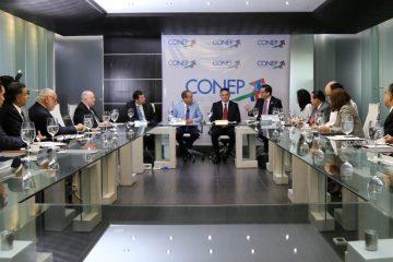 CONEP y presidente del Senado pasan balance