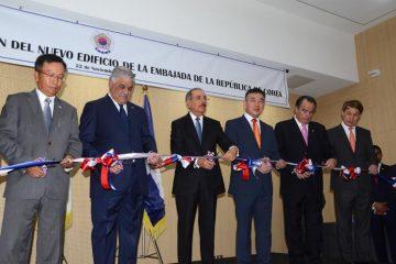 Presidente Danilo Medina encabeza inauguración de nuevo edificio de la embajada de Corea en el país