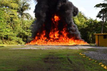 Procuraduría General de la República incendia 122 kilogramos de drogas