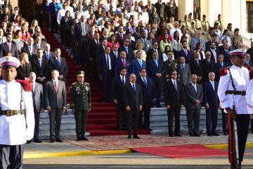 Danilo Medina encabeza acto izamiento de la Bandera Nacional