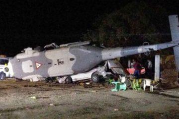 Aumenta a 13 cifra de muertos por desplome de helicóptero en México