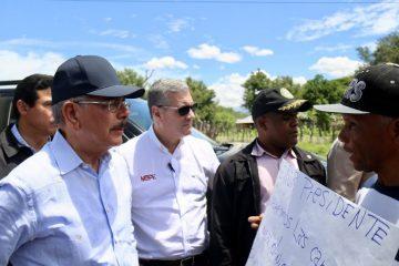 Presidente Medina recorre localidades de la frontera y ordena respuestas a necesidades