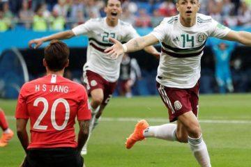 México pone un pie en octavo de final tras vencer 2 -1 a Corea del Sur en Mundial de Fútbol