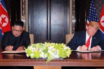 Kim y Trump de acuerdo en acciones simultáneas para paz y desnuclearización