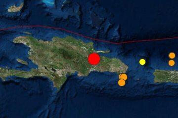 Se produce temblor de tierra en el país de magnitud 5.0