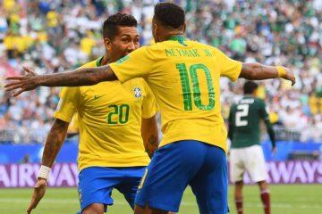 Brasil derrotó 2-0 a México  y clasifica para cuartos de finales
