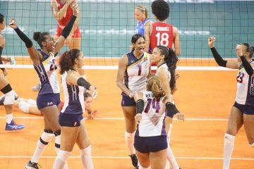 RD gana a Colombia y obtiene medalla de oro en voleibol femenino