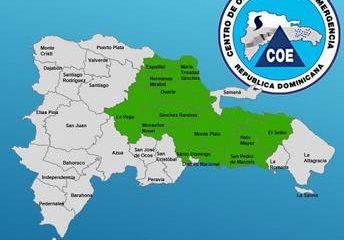 COE emite alerta verde para 12 provincias