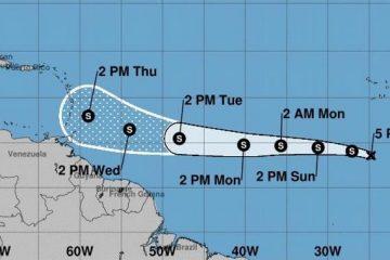 La tormenta tropical Kirk tiene vientos de hasta 65 kilómetros por hora