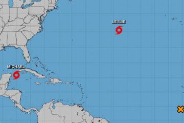 Tormenta tropical Michael a punto de convertirse en huracán en camino a Florida