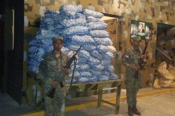 Ejercito Nacional decomisa 2,640 libras de ajo en zona fronteriza