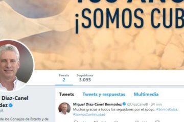 Presidente de Cuba Díaz-Canel se estrena en Twitter