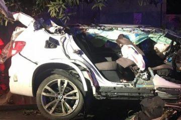 Dos jóvenes muertos y un herido por accidente de yipeta en centro de Santiago