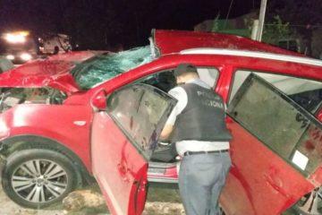Accidente de tránsito deja cuatro personas muertas y una herida en Valverde