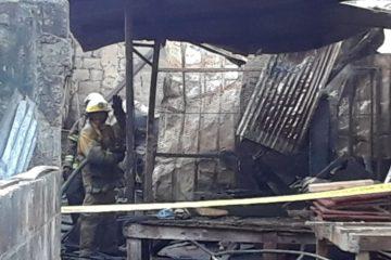 Incendio afecta taller de ebanistería, próximo a planta de GLP