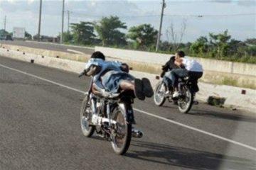 Comisión Militar y Policial del MOPC  busca evitar accidentes por carreras de motocicletas y animales en las vías
