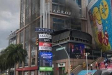 Fuego afecta establecimiento de Acrópolis Center