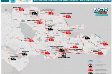 """El COE """"mina"""" el territorio con 3,101 puestos de socorro"""