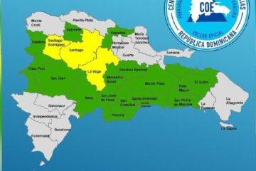 COE mantiene 19 provincias en alerta por lluvias