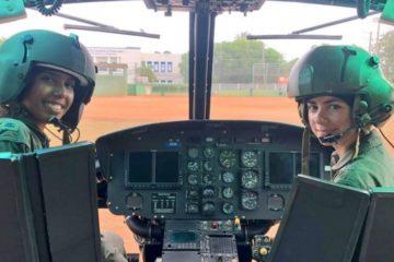 Por primera vez dos mujeres pilotan helicóptero de Fuerza Aérea Dominicana