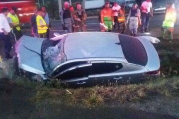 Mueren tres mujeres tras volcarse carro en autopista Duarte