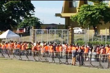 Agentes PN se encuentran apostados en inmediaciones JCE ante manifestación sector LF