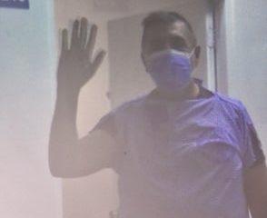 Difunden la imagen del primer paciente afectado por el COVID-19 en el país
