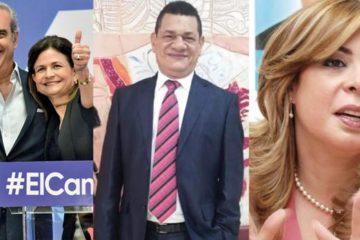 Luis Abinader, Leonel Fernández y Guillermo Moreno eligen a sus vices