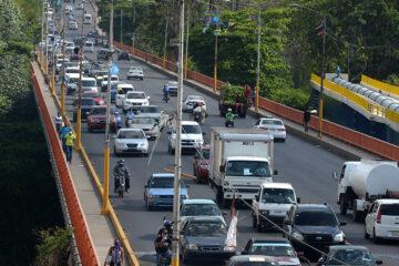 Vuelven los tapones: el tránsito vehicular ya es casi normal en el Gran Santo Domingo