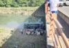 cae vehículo pesado de puente en la Circunvalación