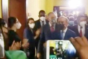 Presidente Medina realiza recorrido de despedida en el Palacio Nacional
