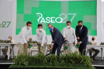 Presidente Abinader encabeza primer Palazo en Santo Domingo Oeste Grupo Finisterre Capital Constrjm KBuirá Plaza Comercial Paseo 27